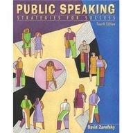 9780205436927: Public Speaking: Strategies for Success