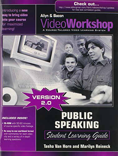 9780205439041: VideoWorkshop for Public Speaking, Version 2.0: Student Learning Guide with CD-ROM (2nd Edition)