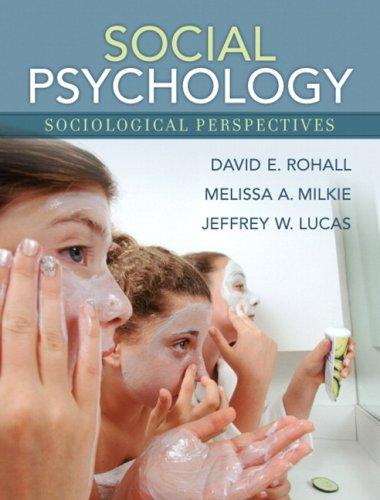 9780205440047: Social Psychology: Sociological Perspectives