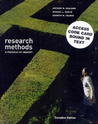 9780205441778: Research Methods: A Process of Inquiry, Canadian Edition