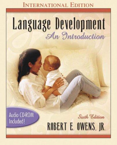 9780205441808: Language Development: An Introduction (with Audio CD): International Edition