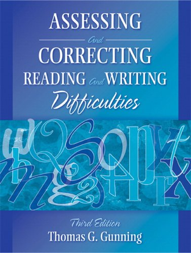 9780205443260: Assessing and Correcting Reading and Writing Difficulties (3rd Edition)