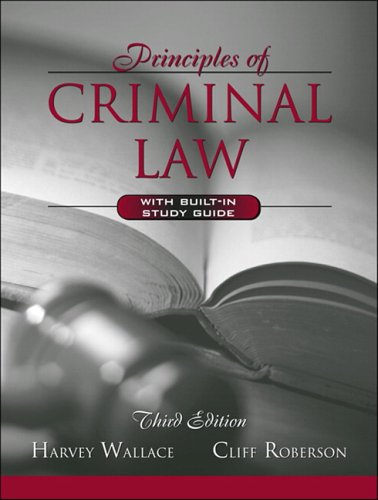 9780205444182: Principles of Criminal Law (with Built-in Study Guide) (3rd Edition)