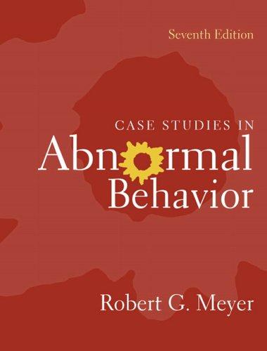 9780205452224: Case Studies in Abnormal Behavior (7th Edition)