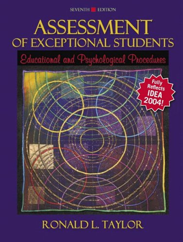 9780205453825: Assessment of Exceptional Students: Educational and Psychological Procedures (7th Edition)