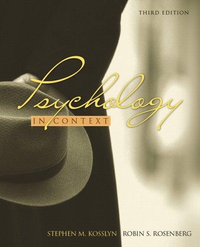 Psychology in Context: Robin S. Rosenberg;