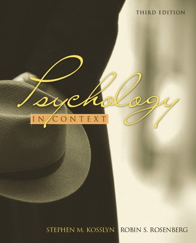 9780205456147: Psychology in Context (3rd Edition)