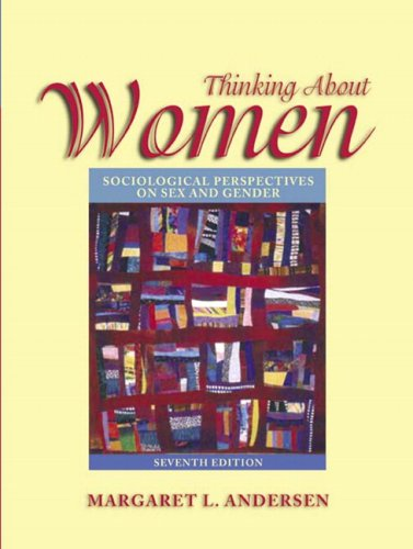 9780205456475: Thinking about Women: Sociological Perspectives on Sex and Gender