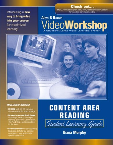 VideoWorkshop for Content Area Reading: Student Learning Guide with CD-ROM (0205457142) by Murphy, Diana