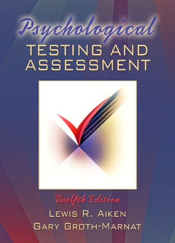 9780205457427: Psychological Testing and Assessment (12th Edition)