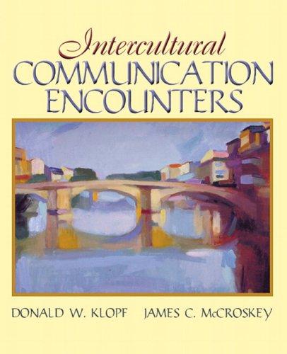 Intercultural Communication Encounters: Klopf, Donald W.,