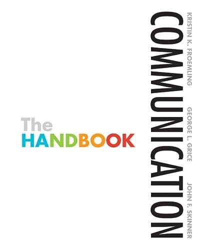 Communication: The Handbook: Froemling, Kristin K.;