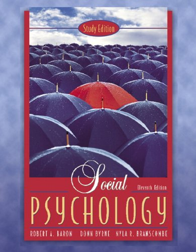 9780205475018: Social Psychology, Study Edition (11th Edition)
