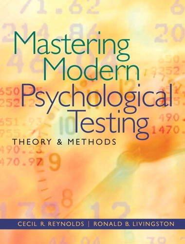 9780205483501: Mastering Modern Psychological Testing: Theory & Methods