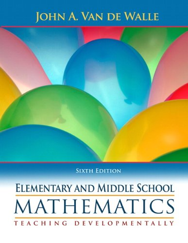 9780205483921: Elementary and Middle School Mathematics: Teaching Developmentally
