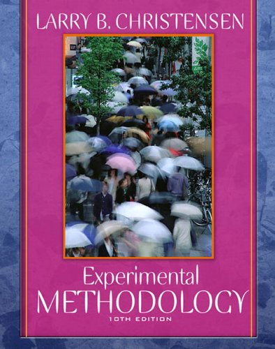 9780205484737: Experimental Methodology, 10th Edition