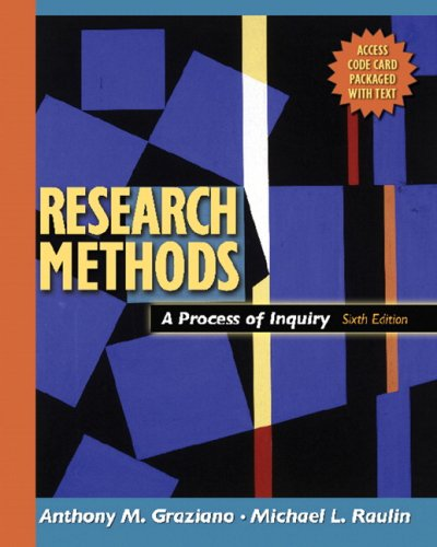 9780205484751: Research Methods: A Process of Inquiry (6th Edition)