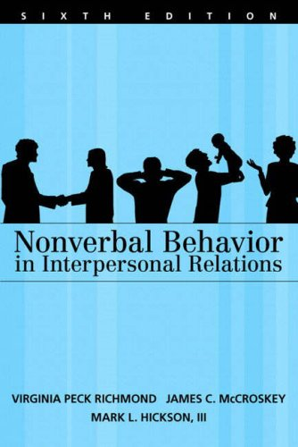 9780205486694: Nonverbal Behavior in Interpersonal Relations (6th Edition)