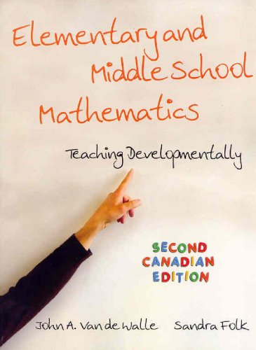 Elementary and Middle School Mathematics, Second Canadian: John A. Van