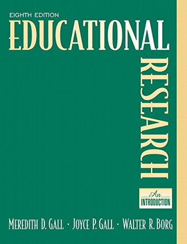 Educational Research: An Introduction (8th Edition): Gall, M. D.;