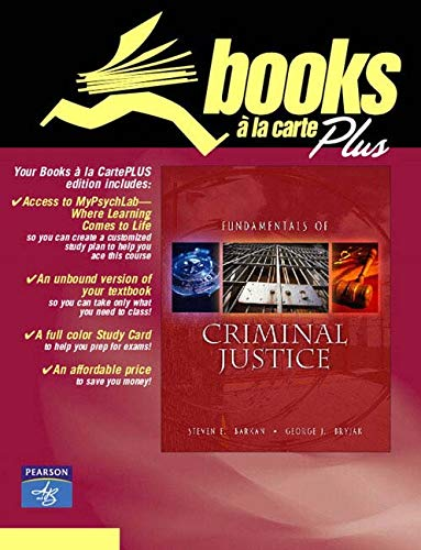 9780205490516: Fundamentals of Criminal Justice: Books a la Carte