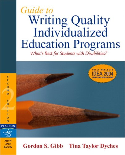 9780205495450: Guide to Writing Quality Individualized Education Programs (2nd Edition)