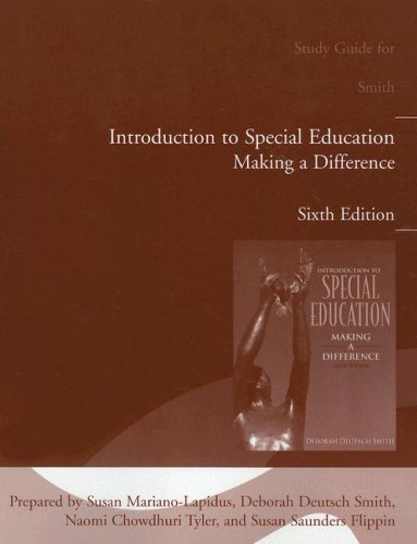 9780205498819: Introduction to Special Education: Making a Difference (Study Guide), 6th Edition