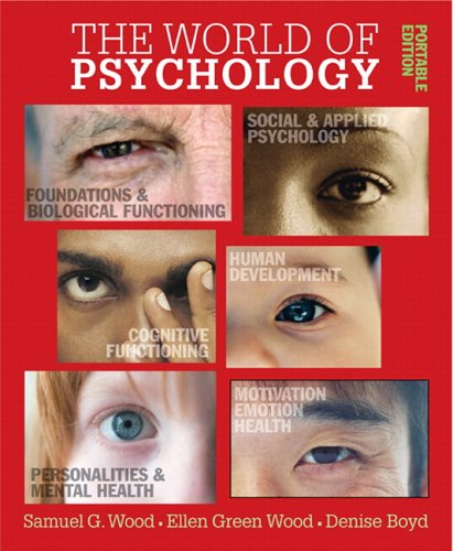 9780205502820: World of Psychology: Portable Edition, The (with MyPsychLab CourseCompass)