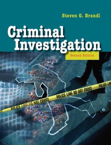 9780205503704: Criminal Investigation (2nd Edition)