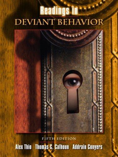 9780205503728: Readings in Deviant Behavior (5th Edition)