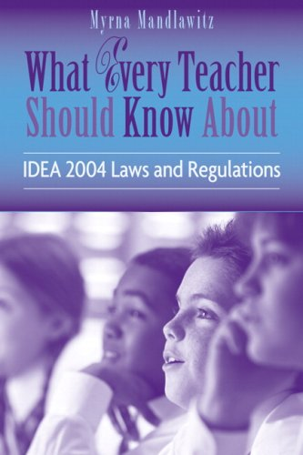 9780205505685: What Every Teacher Should Know About IDEA 2004 Laws & Regulations (What Every Teacher Should Know About. (Wetska Series))