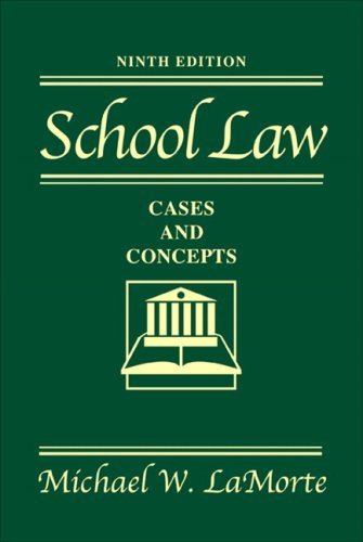 9780205509294: School Law: Cases and Concepts (9th Edition)