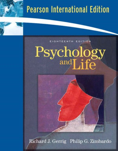 9780205519989: Psychology & Life-Grade Aid With Prac Tests (18th, 08) by Gerrig, Richard J - Zimbardo, Philip G [Paperback (2007)]