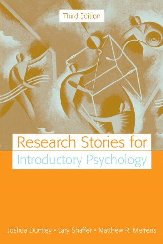 Research Stories for Introductory Psychology (3rd Edition): Joshua Duntley, Lary