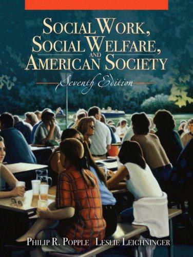 9780205520961: Social Work, Social Welfare and American Society (7th Edition)
