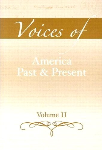 9780205521524: Voices of America Past and Present, Volume 2