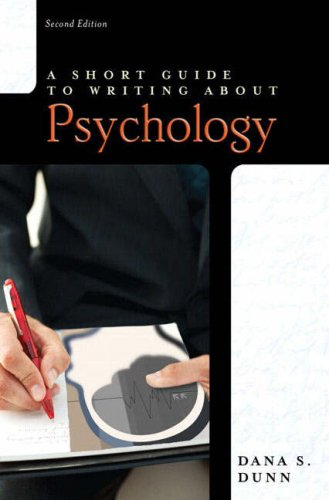9780205521562: Short Guide to Writing about Psychology (2nd Edition)