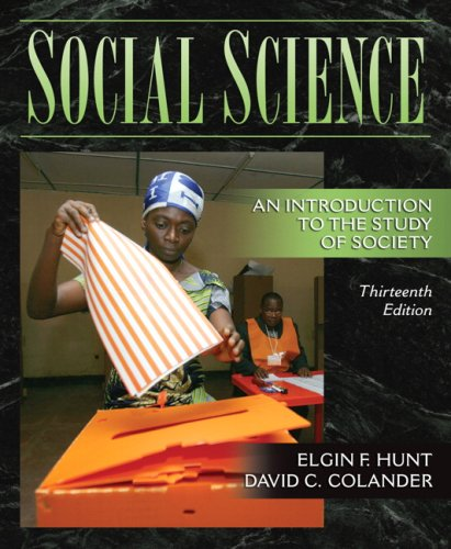 9780205524068: Social Science: An Introduction to the Study of Society (13th Edition)