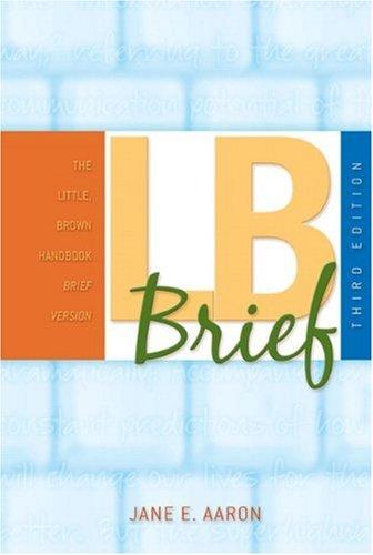 LB Brief (Little, Brown Handbook): Aaron, Jane E.