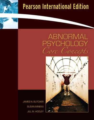 9780205533763: Abnormal Psychology: Core Concepts: International Edition