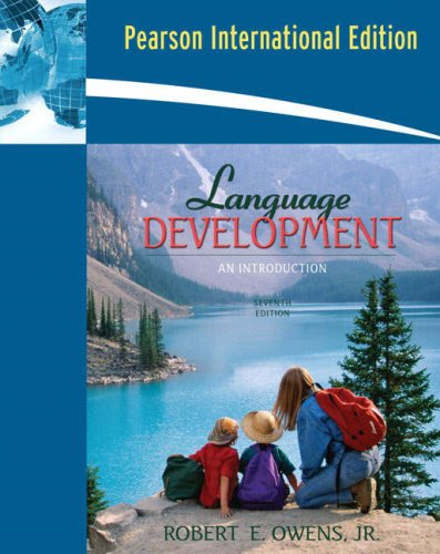 9780205534838: Language Development an Introduction 7th Edition (International Edition)