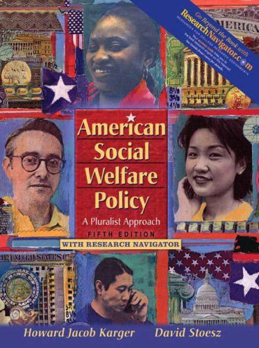 9780205534982: American Social Welfare Policy: A Pluralist Approach with Research Navigator (5th Edition)