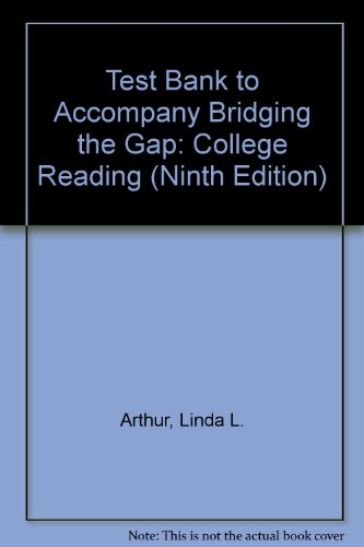 9780205535699: Test Bank to Accompany Bridging the Gap: College Reading (Ninth Edition)