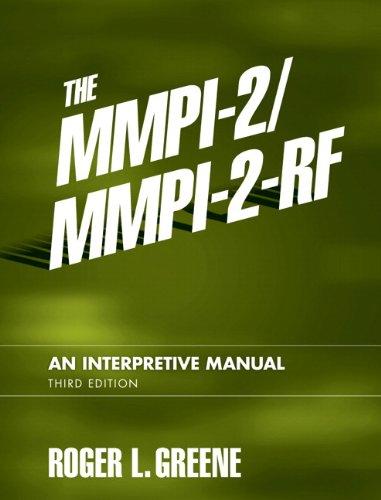 9780205535859: The MMPI-2/MMPI-2-RF: An Interpretive Manual (3rd Edition)