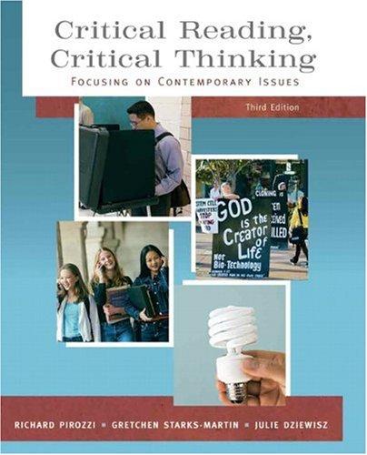 critical reading critical thinking richard pirozzi