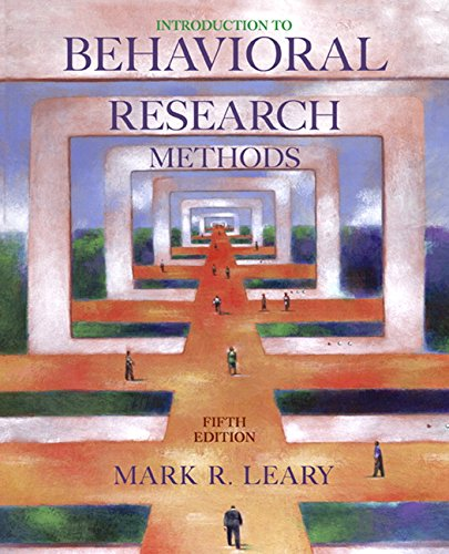 9780205544141: Introduction to Behavioral Research Methods (5th Edition)