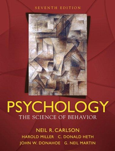 9780205547869: Psychology: The Science of Behavior