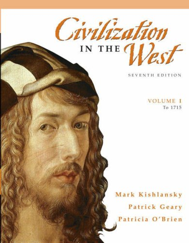 9780205556854: Civilization in the West, Volume 1 (to 1715) (7th Edition)