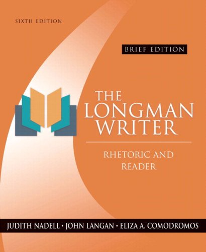 9780205557042: The Longman Writer: Rhetoric and Reader, Brief Edition (with Study Card for Grammar and Documentation) (6th Edition)