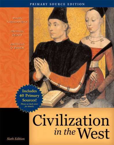 9780205558315: Civilization in the West, Combined Volume, Primary Source Edition (with Study Card) (6th Edition) (Myhistorylab (Access Codes))